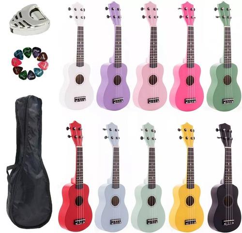 ukelele soprano con funda puas y porta puas ukulele de colores uquelele