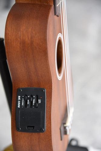 ukelele soprano electroacústico texas con forro adk-ku-se/b