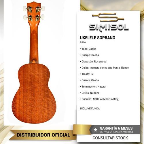 ukelele soprano kala ka15s madera caoba + aquila - envio