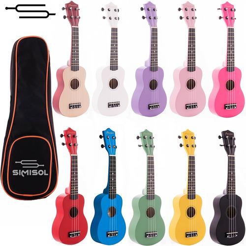 ukelele soprano linea color ukulele bamboo + funda - envio