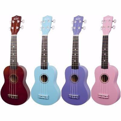 ukelele soprano memphis con funda - varios colores