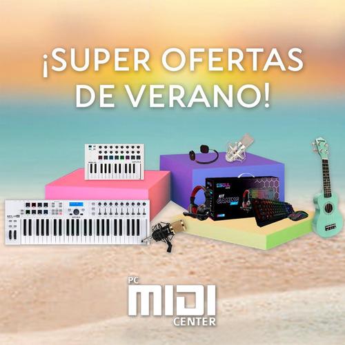 ukelele soprano midiplus de madera con funda naranja promo
