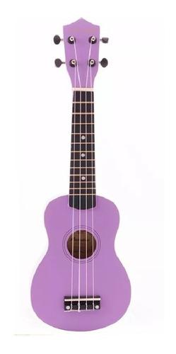 ukelele soprano midiplus de madera con funda violeta promo
