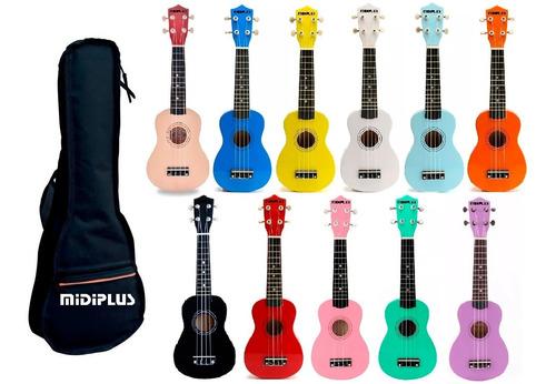 ukelele soprano midiplus madera varios colores + funda