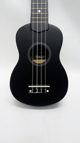 ukelele soprano ramallo color negro + funda de regalo