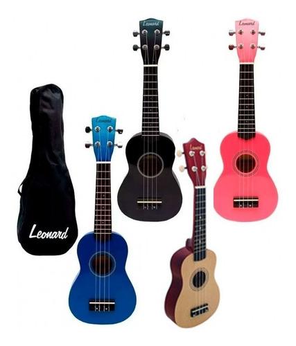 ukelele soprano ukulele leonard uk5 funda colores cuotas