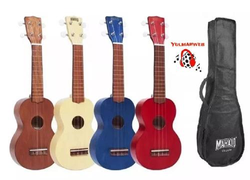 ukelele soprano ukulele mahalo mk1 funda colores con envio
