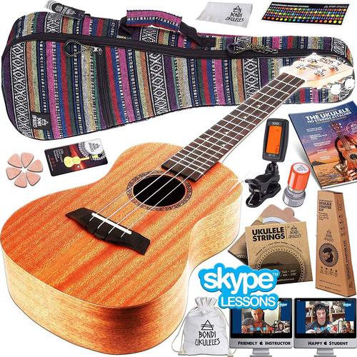 ukelele starter kit (15-bonos gratis) uke de caoba, es...
