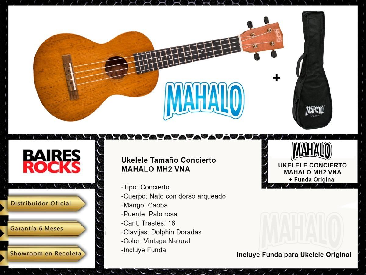 Mahalo mh2/ukelele concierto Vintage Natural