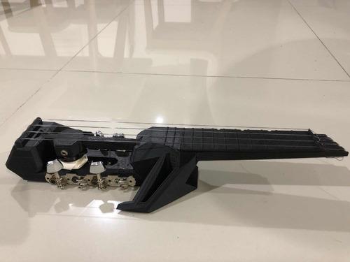 ukelele ukulele eléctrico impreso en 3d