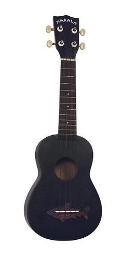 ukelele ukulele soprano-kala makala shark mk-ss/blk+funda