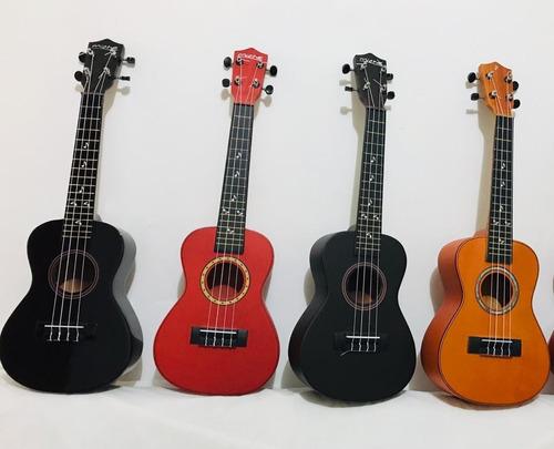 ukeleles acusticos de concierto incluye forro+pua+envio
