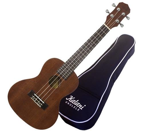 ukulelê concerto kalani tribes kal200ct 15411 tabaco + capa