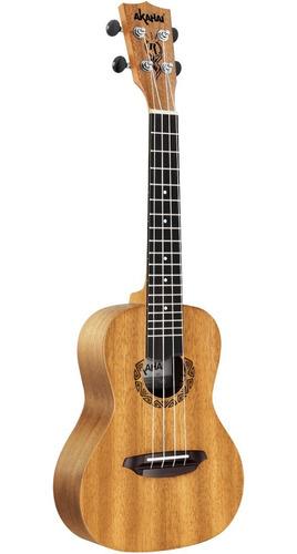 ukulele akahai concert ak24 na acústico com capa