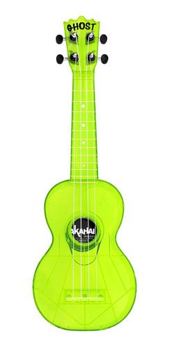 ukulele akahai soprano com capa ghost - lemon