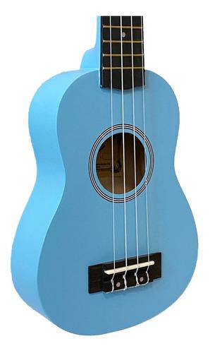 ukulele azul seven soprano suk-07 lb + capa