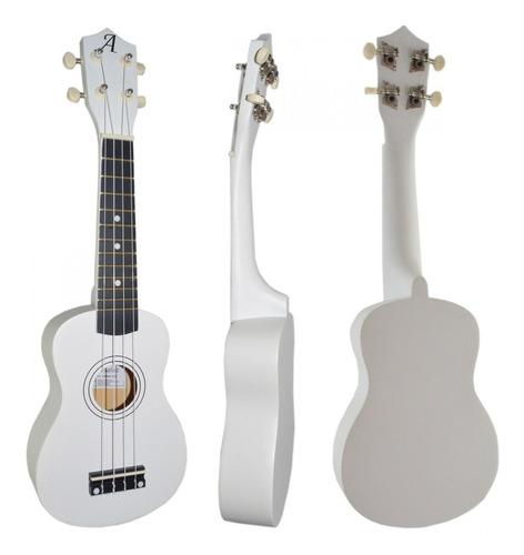 ukulele branco andaluz soprano uks-01 wh