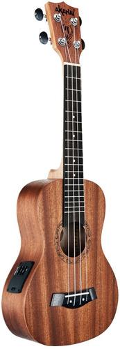 ukulele concerto akahai ronsani k23 e elétrico mahogany bag