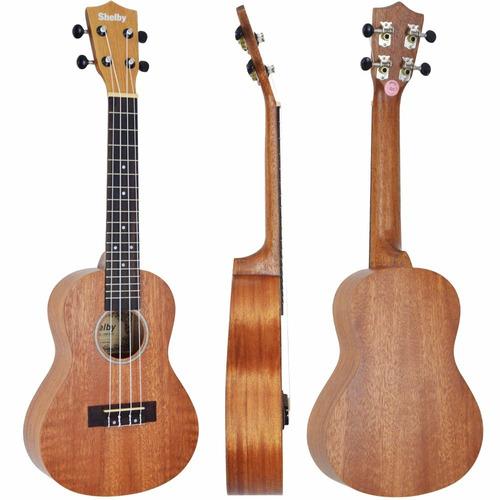 ukulele concerto shelby su23 stnt fosco frete grátis brasil