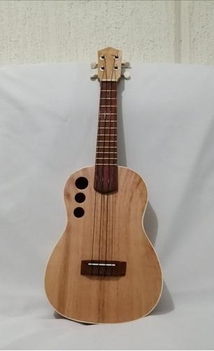 ukulele concierto cedro boca de tres hoyos fileteado