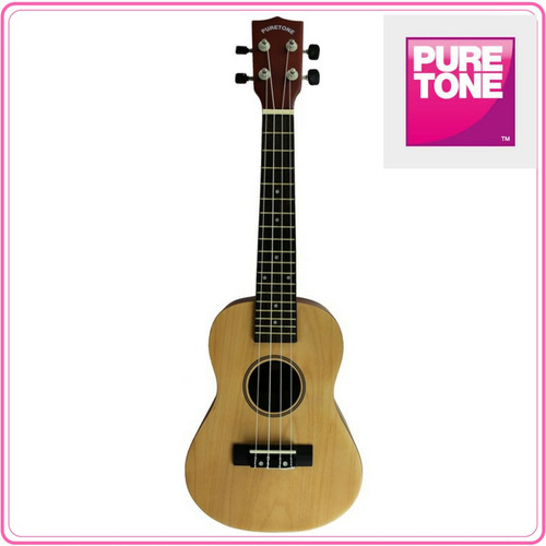 ukulele concierto color natural, marca pure tone