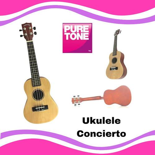 ukulele concierto color natural, marca pure tone rebajado!!