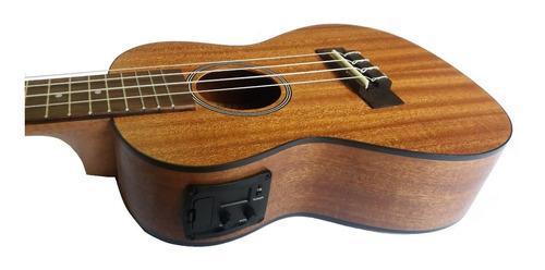 ukulele concierto electroacústico ukelele caoba g
