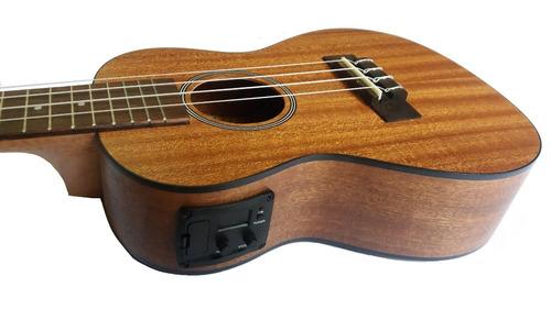 ukulele concierto electroacústico ukelele caoba importado