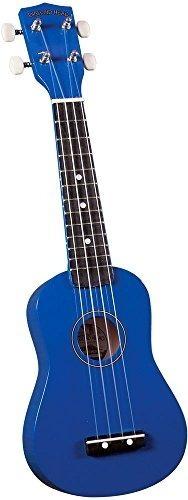 ukulele de cabeza de diamante du-107 rainbow soprano - azul