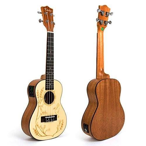 ukulele de concierto electro-acústico de 24 de hawai