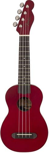 ukulele fender vinice soprano cherry (incluye estuche)