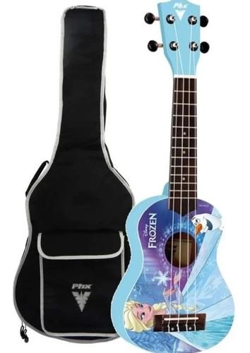 ukulele infantil disney frozen azul phx ukpf1 blue com capa