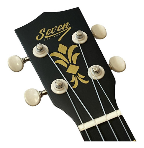 ukulele preto seven soprano suk-07 bk