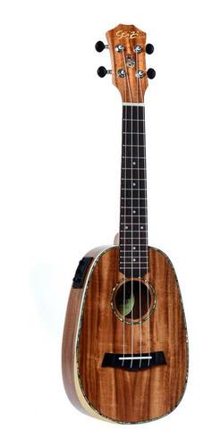 ukulele seizi bora bora plus pineapple concert elétr koa