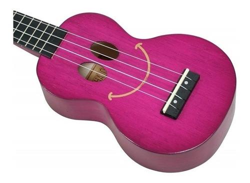ukulele smile mahalo roxo soprano com capa