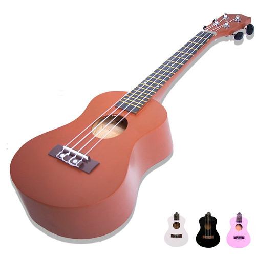ukulele soprano acustico madera plumilla  colores