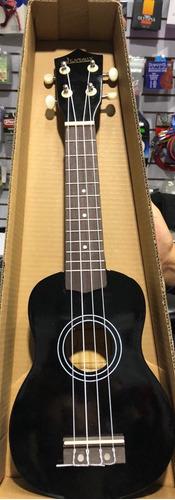 ukulele soprano jendrix  negro c/funda y plumilla full !!
