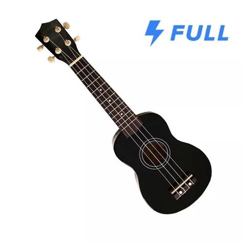ukulele soprano jendrix  negro c/funda y plumilla original !