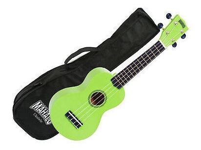 ukulele soprano mahalo (mr1gn) série arco-iris verde