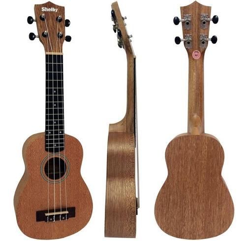 ukulele soprano shelby su21m stnt fosco acústico