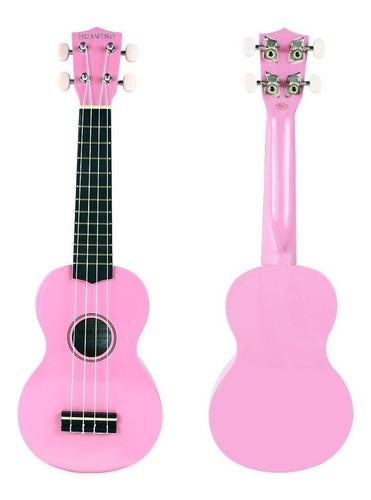 ukulele soprano standard huawind uk21 con forro ukelele rosa