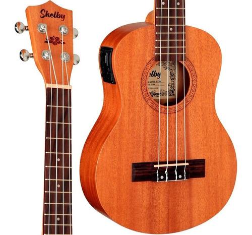 ukulele tenor shelby su25me eletrico mahogany 25me
