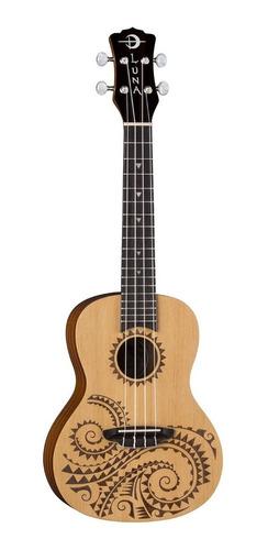 ukulele ukelele luna tattoo spruce concierto