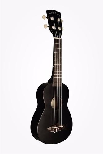 ukulele ukelele makala shark mk-ss/blk pino/caoba soprano