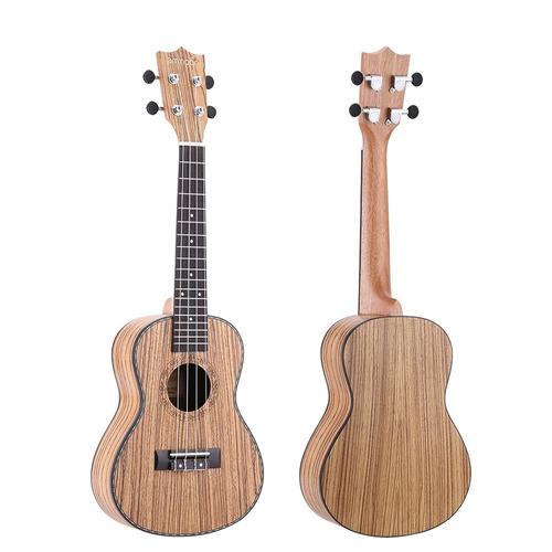 ukulele zebrawood 24'' concierto ukelele acústico