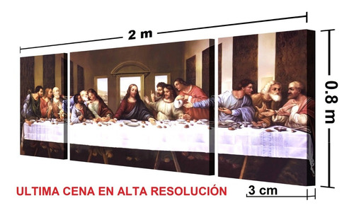 ultima cena. cuadro de 80 x 200 cm
