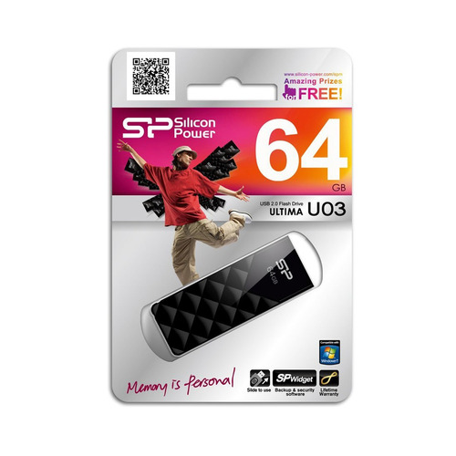 ultima u03 memoria usb 2.0 silicon power 64gb negro
