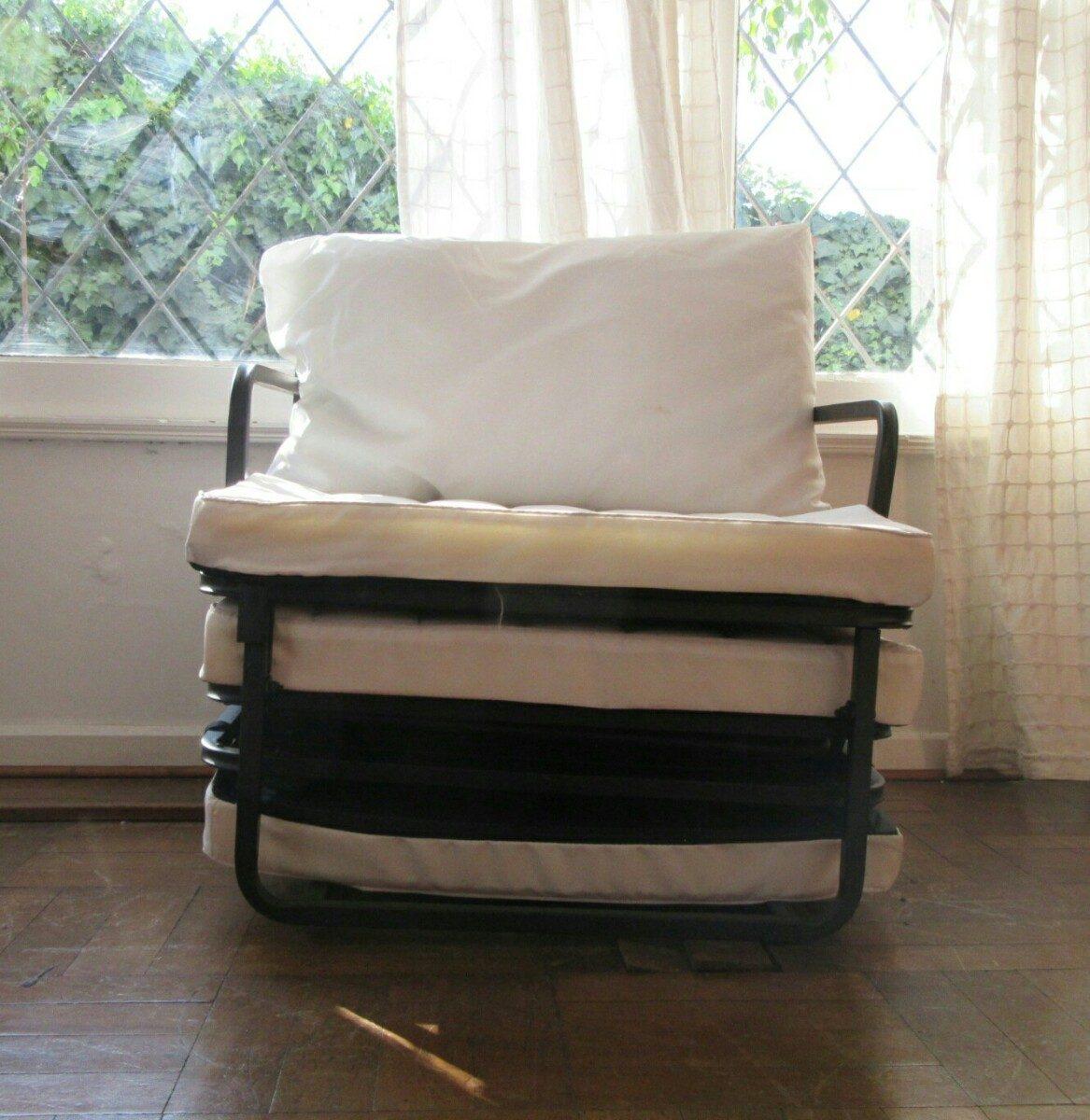 Ultima unidad sill n cama 1 plaza incluye funda y almohada for Sillon cama chile