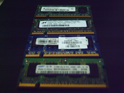 ultimas memorias ddr2 para portatil  512 megas