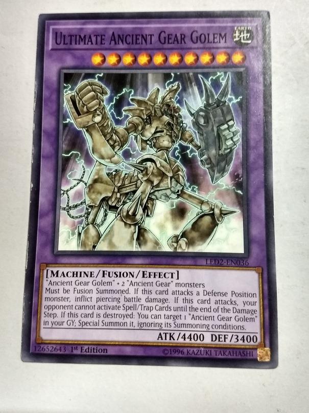 Ultimate Ancient Gear Golem Yugioh Y4